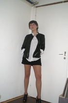 Claudia Strter jacket - see by chlo blouse - H&M shorts - KT KEYT shoes