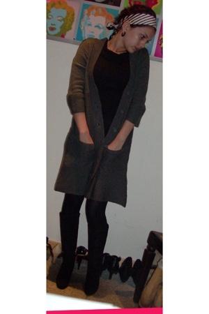 H&M jacket - asos shirt - playboy top - Bilka tights - blendshe boots