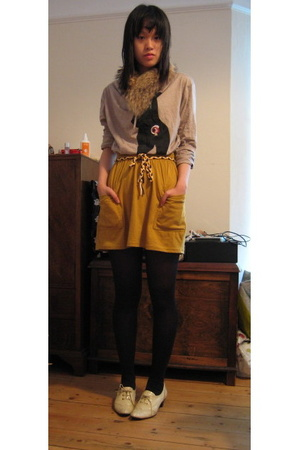 Gibo top - American Apparel skirt - Japan shoes - charity shop accessories