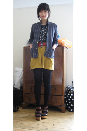 Japan blazer - charity shop shirt - charity shop belt - American Apparel skirt