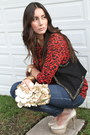 Flowers-bang-bang-bag-studded-pull-and-bear-vest-print-narval-blouse