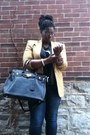 Blue-torrid-jeans-tan-wool-blazer-thrifted-blazer-black-just-fab-bag