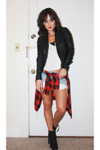 pistol acne boots - leather A Moveable Feast jacket - Wilfred Free top