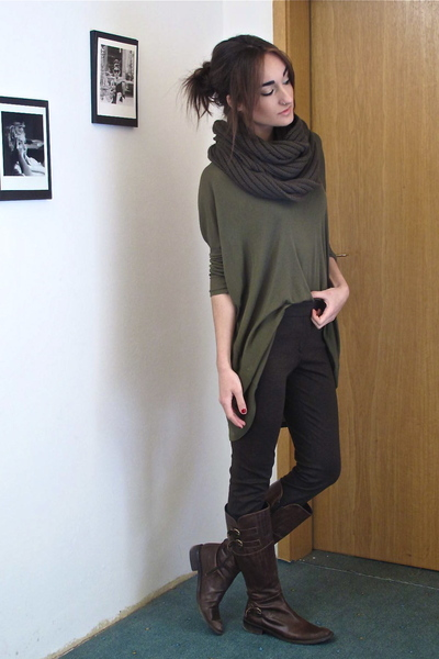 Green Wilfred Shirts, Green Mens H&M Scarves, Brown Zara Pants ...