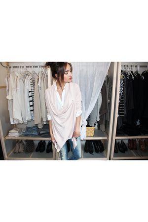 Zara blouse - H&M cardigan - Sicko jeans - wilfred sweater - Zara shoes