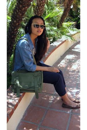 green messenger Target bag