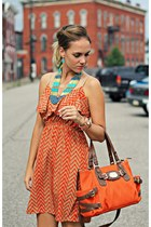 carrot orange Michael Kors bag