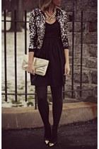 silver Anna Kaci jacket - gold asos heels