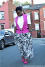 Print-george-skirt-river-island-vest-new-look-earrings-new-look-bracelet
