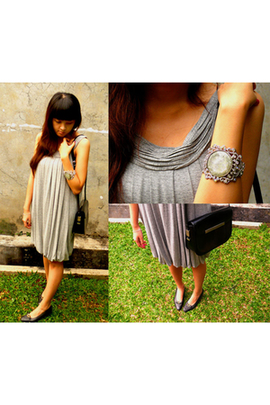Zara dress - Pierre Cardin shoes - Pierre Cardin purse - From India accessories