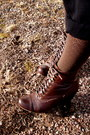 Dark-brown-spring-boots-ruby-red-mossimo-sweater-dark-brown-geometric-walmar