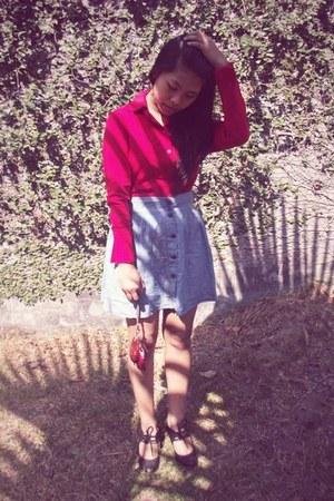 denim H&M skirt - Stefania Baldo boots
