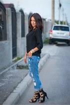 chicnova jeans - chicnova shirt - Choies sandals - Fossil watch