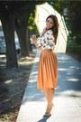 Choies-shirt-carrot-orange-choies-skirt