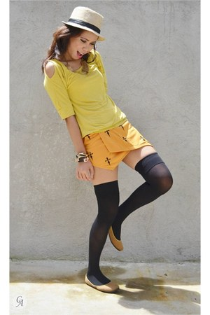 yellow aashta shorts