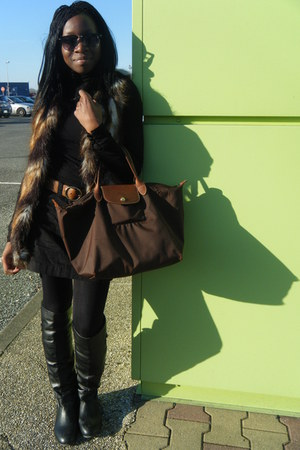 boots - bag - skirt - top - belt - vest