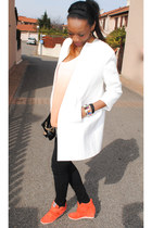 carrot orange Sneakers Bowie sneakers - white coat coat