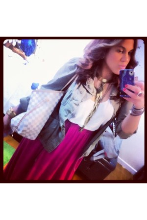 Seven Halos necklace - Urban Outfitters jacket - H&M shirt - Louis Vuitton bag