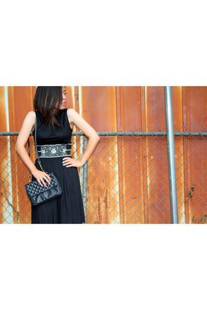 vintage dress - vintage purse