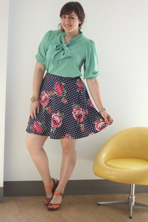 navy floral Floral Aura Skirt in Navy skirt