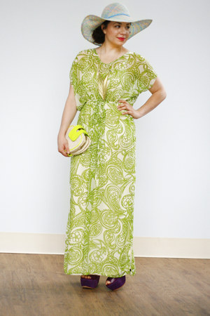 lime green maxi dress You Caftan Have it All Dress dress