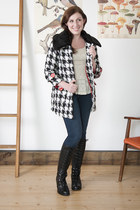 modcloth coat - modcloth boots - modcloth jeans - modcloth top