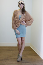 light blue bandage Meet Up on Madison Dress dress