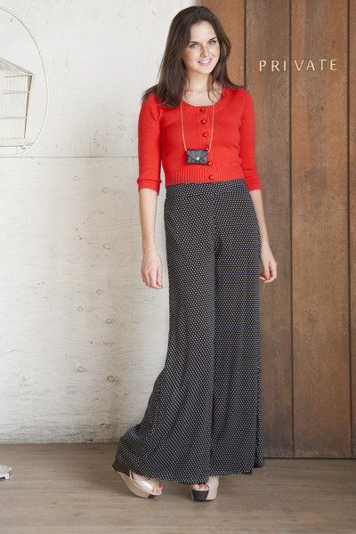 dark gray modcloth pants - black modcloth necklace