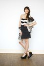 Black-my-heart-goes-pitter-pattern-dress-dress