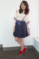 navy polka dots A Chance of Showers Skirt skirt