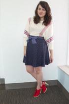 navy polka dots A Chance of Showers Skirt skirt