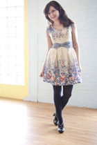 white darling modcloth dress - black miss l fire modcloth heels