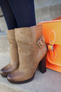 Bronze-modcloth-boots-carrot-orange-modcloth-dress-navy-modcloth-tights