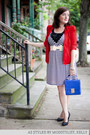 White-modcloth-dress-red-modcloth-jacket-blue-modcloth-bag