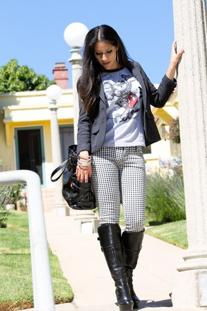 Guess boots - American Eagle blazer - Michael Kors bag - Disney t-shirt