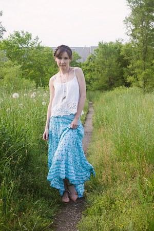 turquoise blue ruffle skirt House of Skye skirt