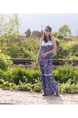 blue vintage dress vintage dress
