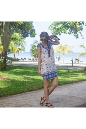 blue ruffled Spell Designs dress