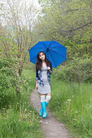 blue umbrella unknown accessories - aquamarine wellies unknown boots