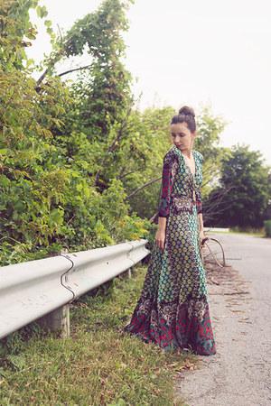 green maxi boho Chelsea Verde dress