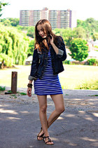 denim Gap jacket - striped cotton Forever 21 dress