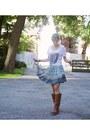 Ivory-spock-shirt-unknown-shirt-turquoise-blue-mini-skirt-spell-designs-skirt