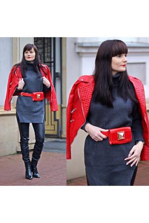 red zaful jacket