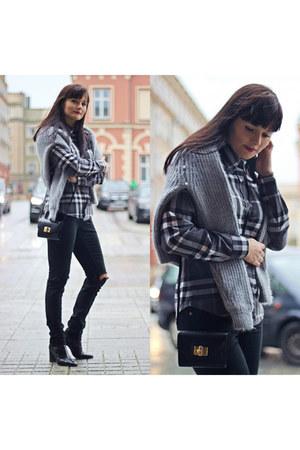 black acne jeans