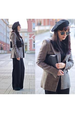 charcoal gray Zara jacket
