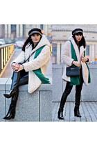beige Primark coat - black H&M panties