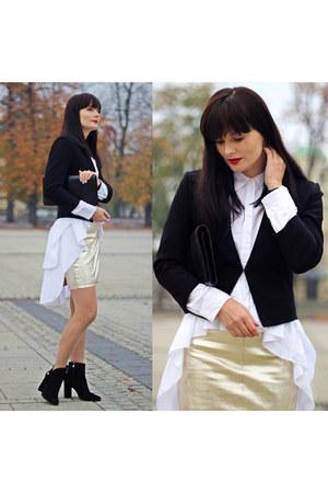 black H&M jacket - white Zara shirt