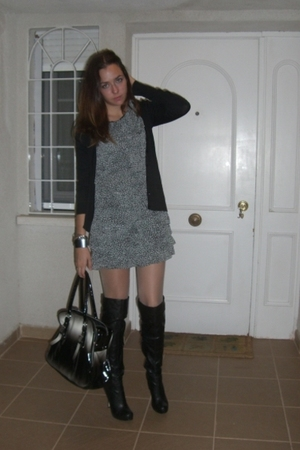 Top Shop dress - Top Shop boots - Zara blazer - BLANCO purse