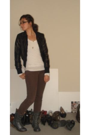 Lululemon shirt - Sportsgirl jacket - Urban Outfitters jeans - forever 21 boots