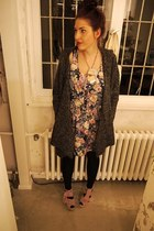 Primark dress - boutique belgique jacket - Topshop shoes - Yazbukey necklace